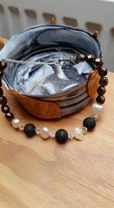 Swarovski, Lava und Süßwasser Perlen - Mix , Armband