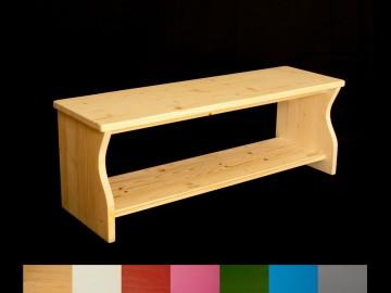 Kinderbank mit Wunschfarbe lackiert (Schuhbank, Kindersitzbank aus Holz, Sitzbank für Kinder)