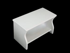 Kinderbank weiß oder mit Wunschfarbe (Kindersitzbank aus Holz, Schuhbank, Sitzbank für Kinder)