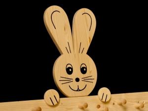 Kindergarderobe Hase 9 Haken Holz Garderobenleiste Garderobenhaken Garderobe