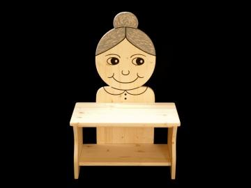Kinderbank Oma aus Holz (Sitzbank für Kinder, Schuhbank, Kindersitzbank) - Handarbeit kaufen