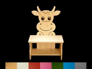 Kinderbank Kuh mit Wunschfarbe komplett lackiert (Kindersitzbank aus Holz, Schuhbank, Sitzbank für Kinder) - Handarbeit kaufen