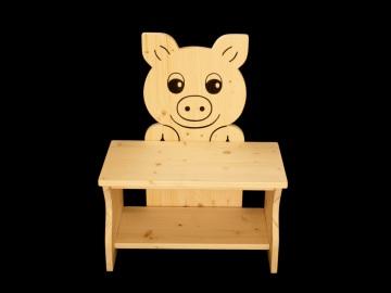 Kinderbank Schwein aus Holz (Sitzbank für Kinder, Schuhbank, Kindersitzbank) - Handarbeit kaufen