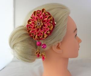 Haarspange, Haarklammer, Kanzashi Blume, Haarschmuck