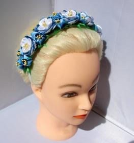 Haarreif, Haarschmuck, Kanzashi, Stoffblumen                                                                                                                                - Handarbeit kaufen