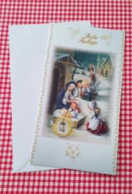 3D Weihnachtskarte,  Doppelkarte, Handarbeit                                                   - Handarbeit kaufen
