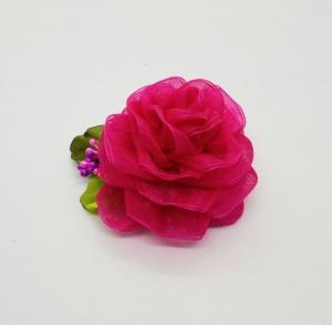 Stoffbrosche, Brosche aus Organza, Stoffblume.  - Handarbeit kaufen