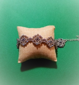 Armband aus Kristallperlen und Glasperlen, Handarbeit    - Handarbeit kaufen