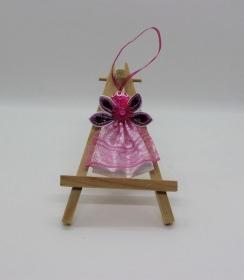 Engel im pink Kleid, Weihnachtsdeko, Weihnachtsbaum Anhänger, Handgemacht                                   - Handarbeit kaufen