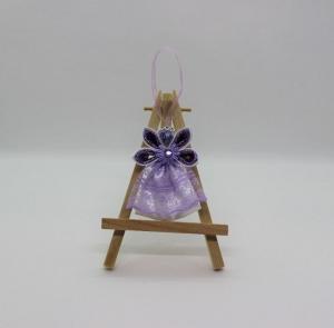 Engel im lila Kleid, Weihnachtsdeko, Weihnachtsbaum Anhänger, Handgemacht                                   - Handarbeit kaufen