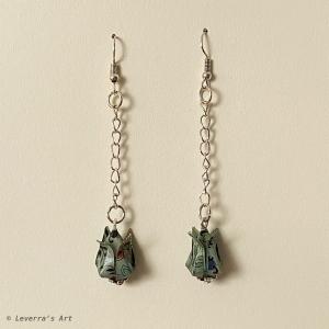 Origami Tulpen Ohrringe, Japanisch, Handgemacht Schmuck, Perfektes Geschenk  - Handarbeit kaufen