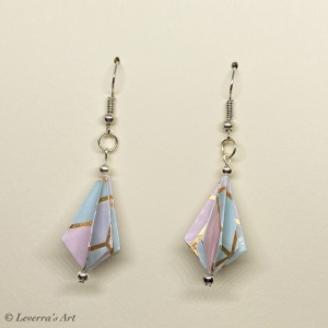 Origami Diamant Ohrringe, Japanisch, Handgemacht Schmuck, Perfektes Geschenk, bunt     - Handarbeit kaufen