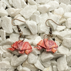 Origami Elefant Ohrringe, Japanisch, Handgemacht Schmuck, Perfektes Geschenk, bunt    - Handarbeit kaufen