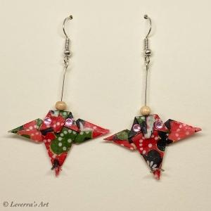 Origami Eule Ohrringe, Japanisch, Handgemacht Schmuck, Perfektes Geschenk für Eulenliebhaber, bunt   - Handarbeit kaufen