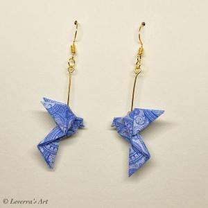 Origami Taube Ohrringe, Japanisch, Handgemacht Schmuck, Perfektes Geschenk, bunt  - Handarbeit kaufen