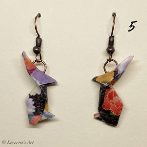 Origami Hasen Ohrringe Handgemacht Schmuck, Perfektes Geschenk für Ostern    - Handarbeit kaufen