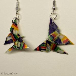 Origami Schmetterling Chocho Ohrringe, Ohrhänger Handgemacht, Schmuck, Perfektes Geschenk, Kawaii, Hochzeit