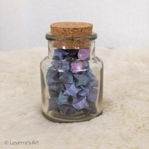 Origami Papier Sterne im Glas (S) mit Korken, handgemacht, Perfektes Geschenk, Tolle Dekoration, Galaxis Galaxy - Handarbeit kaufen