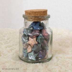 Origami Papier Sterne im Glas (S) mit Korken, handgemacht, Perfektes Geschenk, Tolle Dekoration, Marble muster, Bunt - Handarbeit kaufen