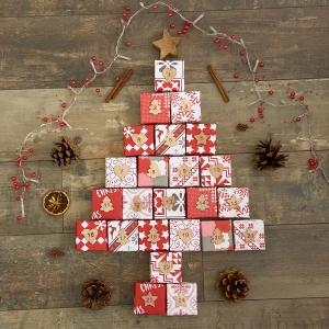 Origami Adventskalender, Partnerkalender, 24 Hand gefaltete Boxen zum selber füllen als DIY Geschenk ODER bereits gefüllt von Leverra's Art