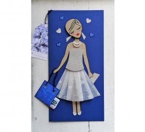 Glückwunschkarte für Frauen, Geldgeschenk, handgemacht, Klappkarte 3D - Handarbeit kaufen