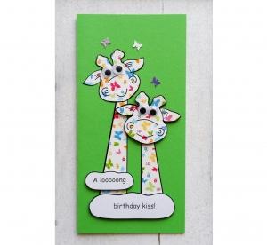 Geburtstagskarte für Kinder, handgefertigt, 3D Klappkarte, für Mädchen, für Jungen - Handarbeit kaufen