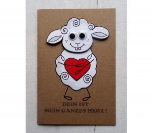 Grußkarte zum Valentinstag  handgemacht Liebeskarte 3D Klappkarte für Frauen für Männer - Handarbeit kaufen
