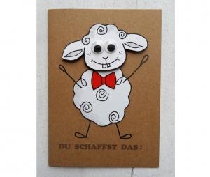 Grußkarte, lustige Motivationskarte, Motivationskarte 3D, Klappkarte, gebastelt, handgemacht - Handarbeit kaufen