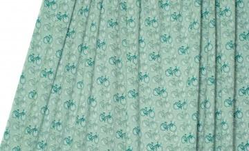 Modal Jersey Stoff Meterware lillestoff Flowerbike grün