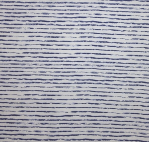 Jersey Stoff mit Streifen // Baumwolljersey Meterware // Avalana Jerseystoff zum nähen // Kinderstoffe gestreift // blau, weiß