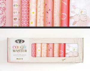 Stoffpaket Baumwolle 10 St. // AGF Color Master Rose Parfait // Patchwork Stoffe Paket  // Fat Quarters zum nähen // rosa