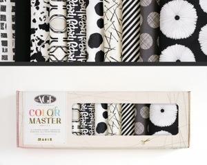 Stoffpaket Baumwolle 10 St. // AGF Color Master Light and Shadow // Patchwork Stoffe Paket  // Fat Quarters zum nähen // schwarz weiß