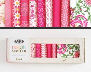 Stoffpaket Baumwolle 10 St. // AGF Color Master Life is Pink // Patchwork Stoffe Paket  // Fat Quarters zum nähen // pink, rosa