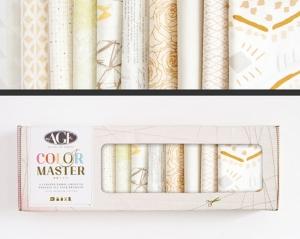 Stoffpaket Baumwolle 10 St. // AGF Color Master Winter Wheat // Patchwork Stoffe Paket  // Fat Quarters zum nähen // weiß, beige