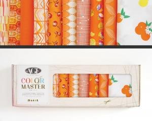 Stoffpaket Baumwolle 10 St. // AGF Color Master Tangerine Summer // Patchwork Stoffe Paket  // Fat Quarters zum nähen // orange