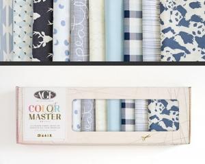 Stoffpaket Baumwolle 10 St. // AGF Color Master Cloud and Sky // Patchwork Stoffe Paket  // Fat Quarters zum nähen // blau weiß