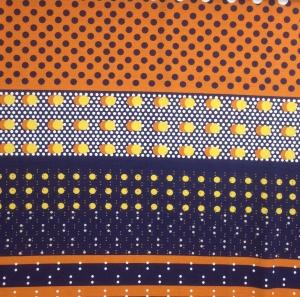 Jersey Stoff mit Pünktchen // Hilco Big Dots // Viskosejersey Stoffe zum nähen // Oeko-tex Viskose Jersey Strickware // orange mareineblau