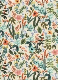 Baumwollstoff mit Wildblumen  // Cotton and Steel Herb Garden // Japanische Baumwolle Meterware // Patchwork Stoffe zum nähen // bunt