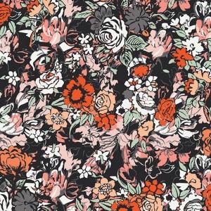 Jersey Stoff mit Blumen // Art Gallery Millefiori Silkroad //  Baumwolljersey Meterware // Stoffe zum nähen // bunt