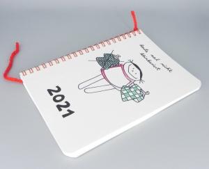 Jahreskalender 2021 heute mal nicht kleinkariert  - Handarbeit kaufen