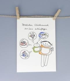 Baby Karte für Junge und Mädchen, Postkarte für die Geburt - Handarbeit kaufen