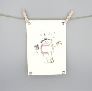 Geburtstagskarte , Karte zum Geburtstag von nini san  - Handarbeit kaufen