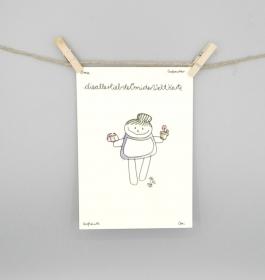 Karte für die Großmutter, Oma Postkarte von nini san  - Handarbeit kaufen