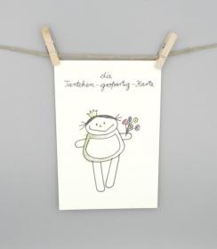 Tantchen großartig Karte, Grußkarte und Geburtstagskarte für die Tante von nini san - Handarbeit kaufen
