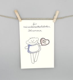 Karte für den Sohn, Sohnemann Postkarte von nini san - Handarbeit kaufen
