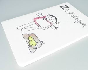 Psychologin Notizbuch, Züchologin Beruf aus Kindermunde von nini san - Handarbeit kaufen