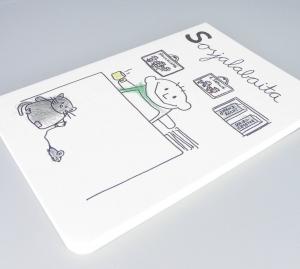 Sozialarbeiter Notizbuch von nini san, Sosjalabaita Beruf aus Kindermunde