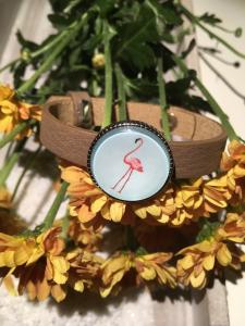 Handgemachtes cabochon (Kunst)lederarmband