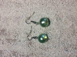 Handgemachte Perlen ohrhänger aus nickelfreiem Messing
