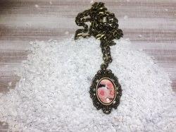 Handgemachte cabochon Halskette
